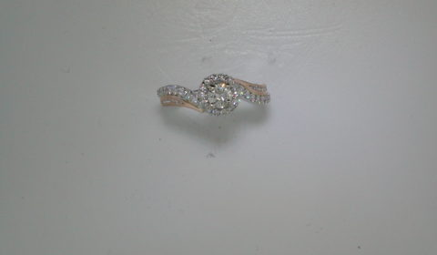 .31ct H VS2 round engagement ring set in 14kt white gold and rose gold with 44 diamonds =.45ct  style  ER11834R2T44JJ   $4100.00