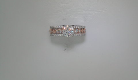 Semi engagement ring with diamonds =.73ct  Style 405-0257  $3200.00