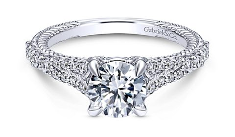 Sample engagement ring from Gabriel NY and Co.  Diamonds =.39ct  Style 405-0264  $1725.00 (without center stone)