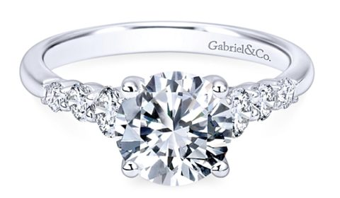 Sample engagement ring from Gabriel NY and Co. Diamonds =.50ct  Style ER11752R4ALZJJ $2375.00 (without the center stone)