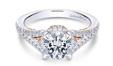 Sample engagement ring from Gabriel NY and Co. Diamonds =.50ct in two tone 14kt gold.  Style ER13994R4STZJJ  $3140.00