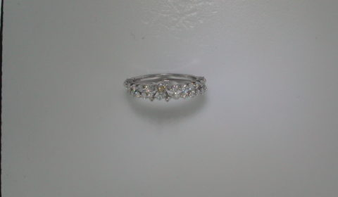 Semi mount bridal set in 14kt white gold with 31 diamonds =.88ct  Style 412-0064  $3500.00