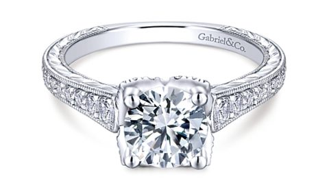 Sample engagement ring from Gabriel NY and Co. Diamonds =.44ct  Style ER13849R4ALZJJ  $2765.00 (without center stone)