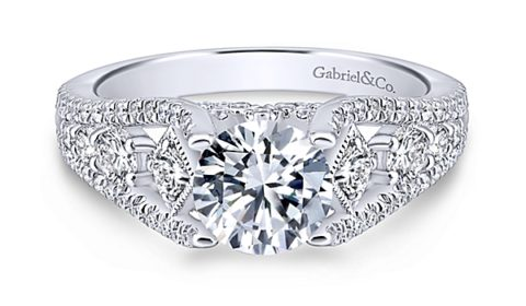Sample engagement ring from Gabriel NY and Co. Diamonds =.70ct  Style ER12814R4ALZJJ  $3425.00 (without center stone)