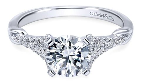 Sample semi-mount engagement ring with diamonds =.17ct Style 405-00295 $1100.00