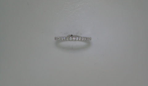 Wedding band set in 14kt white gold with 17 diamonds =.25ct  Style 700-0350 $900.00