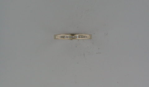 Anniversary ring in 14kt yellow gold with 10 diamonds =.10ct  Style 723-0010  $575.00