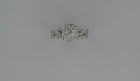 Bridal set =.30ct  set in 14kt white gold with 55 diamonds =.70ct  Style 845-0027  $2250.00