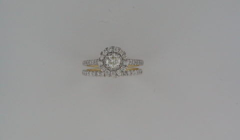 Bridal set =.30ct in 14kt yellow gold with 49 diamonds =.70ct  Style 845-0028 $2250.00