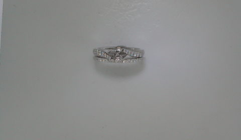 Semi-mount bridal set in 14kt white gold with 27 diamonds =.25ct.  Style 723-0021 $1975.00
