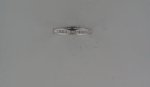 Anniversary ring in 14kt white gold with 10 diamonds =.25ct.  Style 723-0029.  $895.00