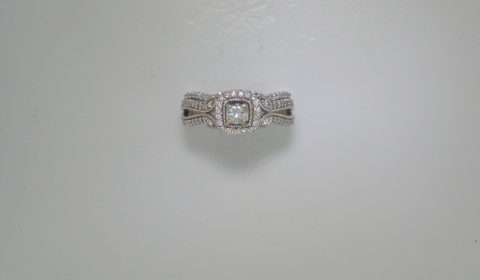 .25ct bridal set in 14kt white gold with 97 diamonds =.55ct.  Style OC17A70-OC17A70W.  $3750.00