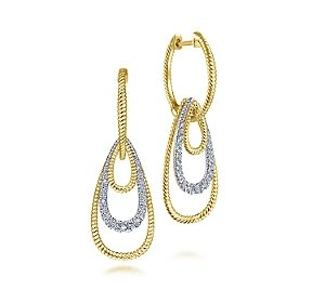 Diamond fashion earrings in 14ky yellow and white gold =.31ct.  Style EG13802M45JJ $1250.00