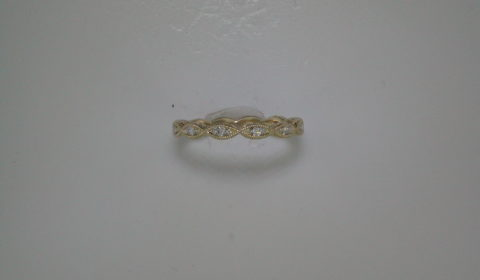 Stackable diamond ring in 14kt yellow gold =.11ct.  Style LR4381Y45JJ  $690.00