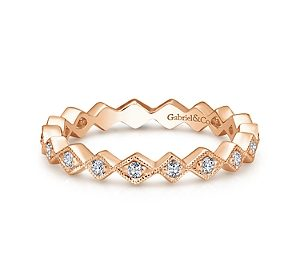 Stackable zig-zag ring in 14kt yellow gold with diamonds =.20ct.  Style LR4379Y45JJ  $825.00