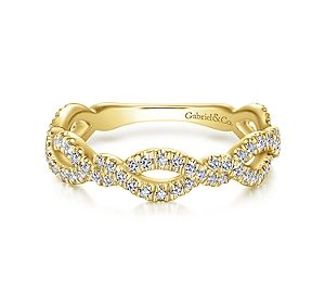 Stackable fashion ring in 14kt yellow gold with diamonds =.46ct.  Style LR51259Y45JJ  $1400.00