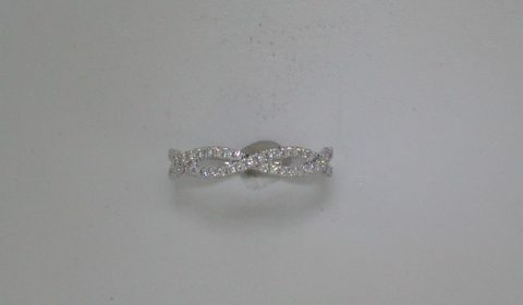 Stackable woven band in 14kt white gold with 45 diamonds =.28ct. Style NK25812WED-W.  $1500.00