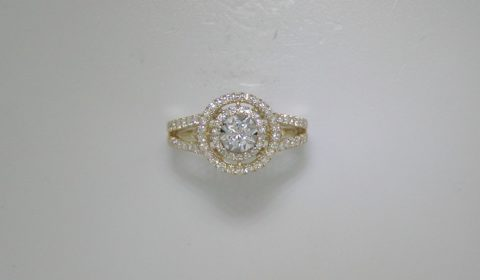 Diamond fashion ring in 14kt yellow gold with 80 diamonds =.76ct.  Style E71-R401025.  $2500.00