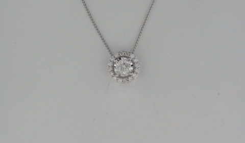 .33ct diamond pendant in 14kt white gold with 16 diamonds =.28ct on an 18in chain Style FP4153/50-4WC $1500.00