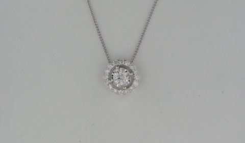 .38ct diamond pendant in 14kt white gold with 16 diamonds =.33ct on an 18in chain Style FP4253/70-4WC $2250.00