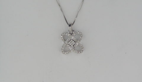 .12ct diamond pendant in sterling silver with 35 diamonds =.17ct on an 18in chain Style PD10454-SSF $300.00