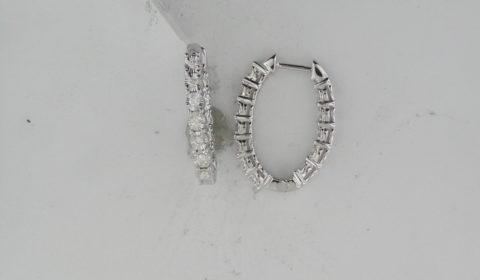 Illusion hoop earrings in 14kt white gold with 24 diamonds =.50ct Style ER24315-4WC $1500.00