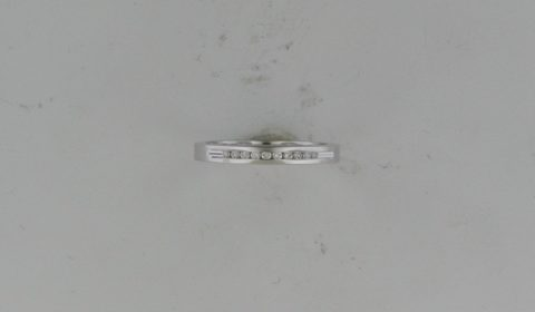Anniversary ring in 14kt white gold with 10 diamonds =.10ct.  Style AN07/.10  $675.00
