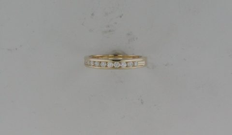Anniversary ring in 14kt yellow gold with 10 diamonds =.30ct.  Style AN07/.33 $1200.00