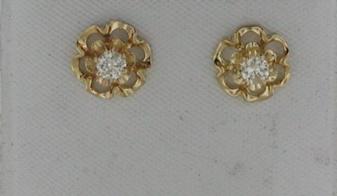 Buttercup diamonds earrings in 14kt yellow gold with 2 diamonds =.20ct.  Style 750-0693 $575.00