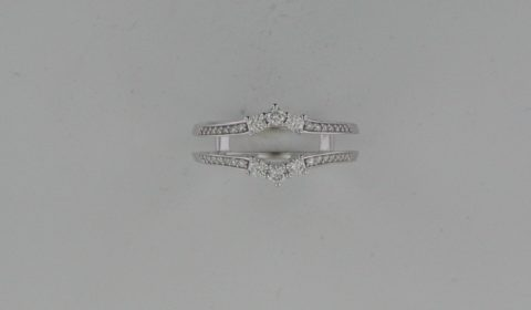 *REORDER AVAILABLE* Ring guard in 14kt white gold with 34 diamonds =.33ct.  Style 652100.  $1500.00